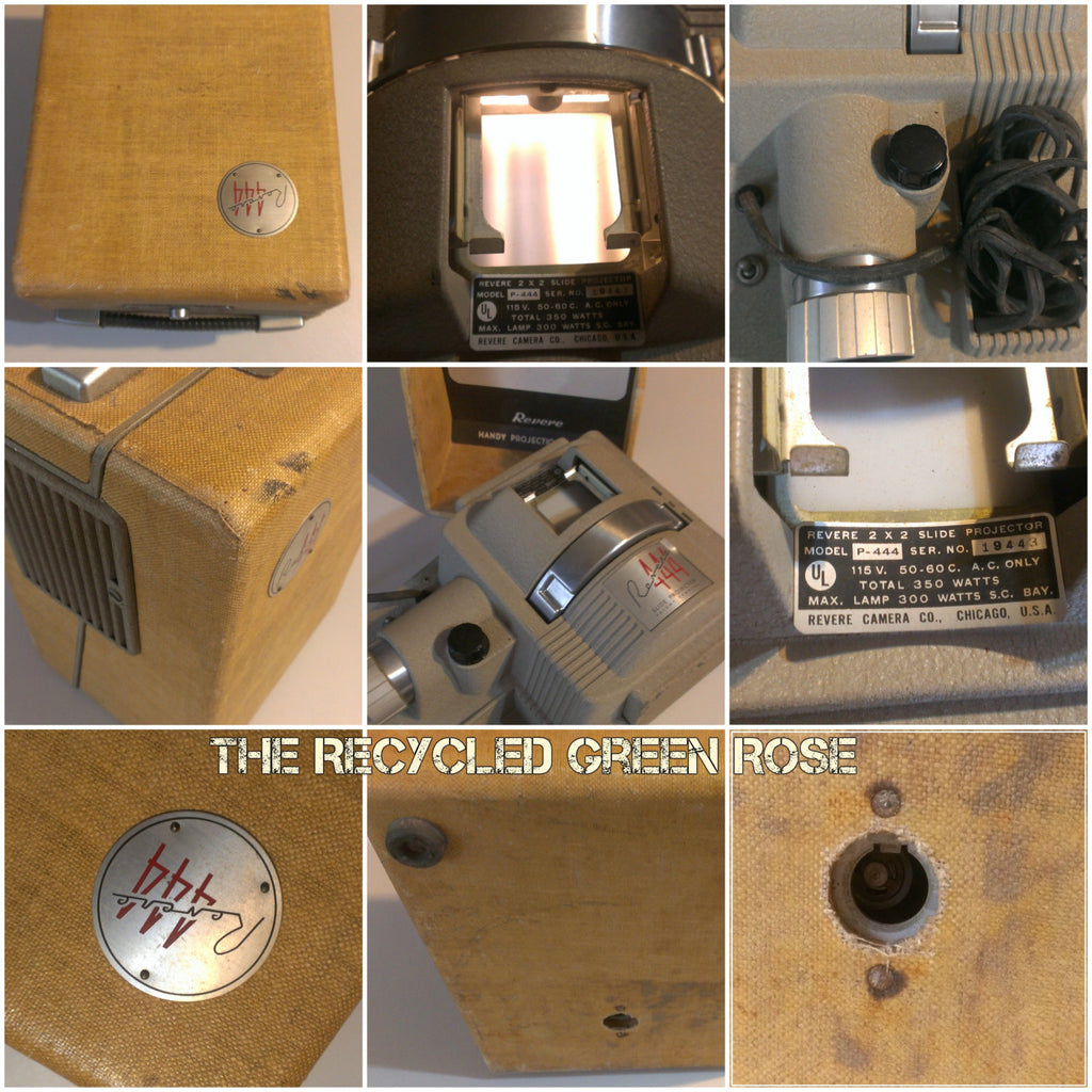 444 Revere Projector, vintage electronics, 8mm projector with case
