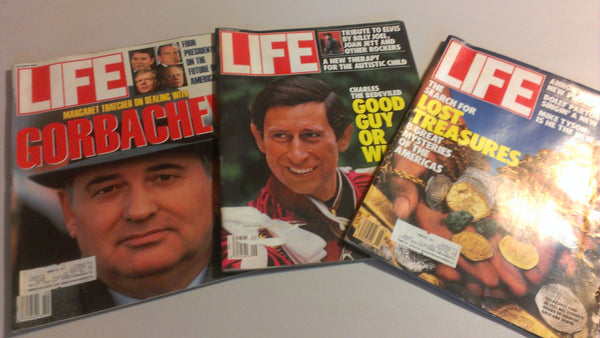 LIFE Magazine - Lot of Three -  1987 - Free Shipping