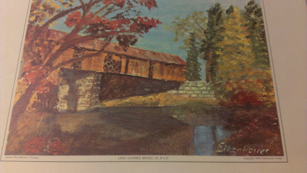 Covered Bridge Art, Eisenhower College, Edward Ryerson