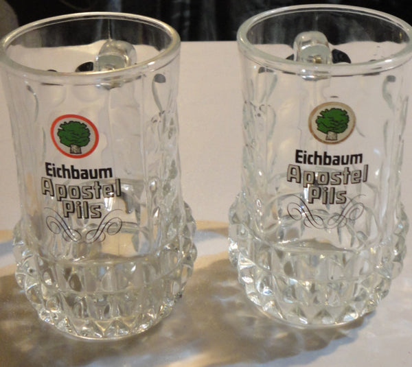 2 Eichbaum Apostel Pils Mugs, German Beer