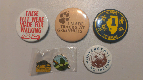 Lot of Vintage Buttons - Walking, Tracks, Trekkers