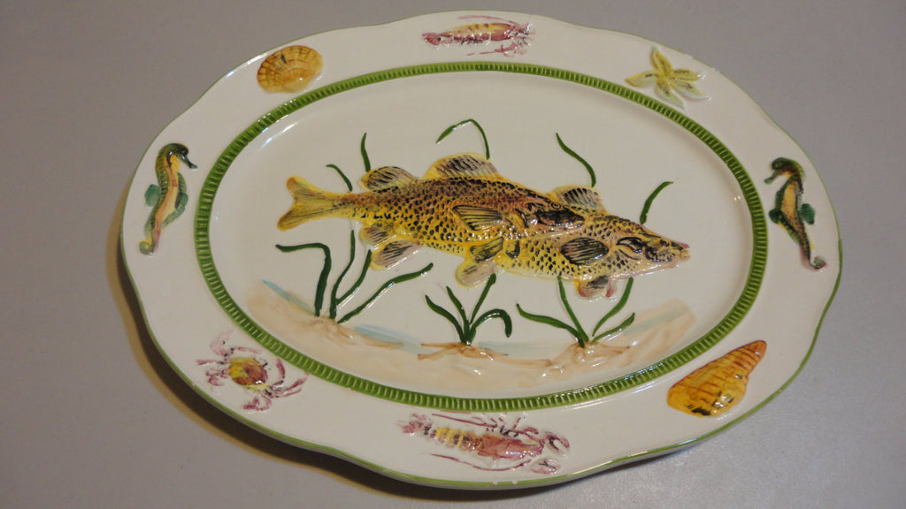 Weiss Fish Platter, Serving Platter, Fish plate, FREE Shipping!!