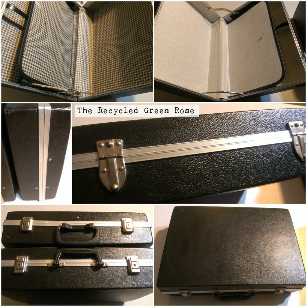 ONLY ONE LEFT! Black and Silver Hard Plastic Briefcases