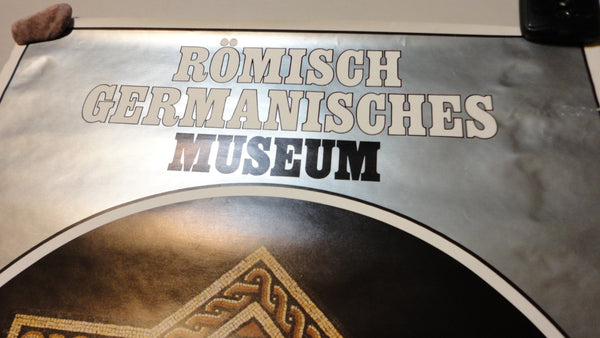 Roman Germanic Museum, Museums The City of Koln, Romisch Germanisches Museum, Museen Der Stadt Koln, Vintage Poster, Wall Decor, FREE Ship