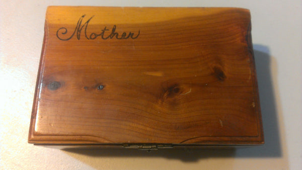 Mother, Wooden Jewelry Box, Stash Box, Cedar Wood Box, Storage, Organization, FOR MOM, gifts for mom, FREE Shipping!