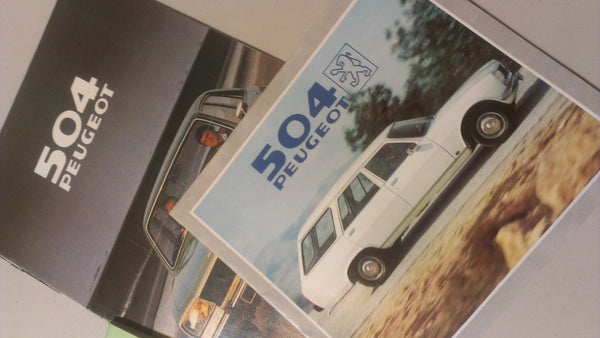 504 Peugeot Owners Manual and Original Advertisement Paperwork, FREE Shipping
