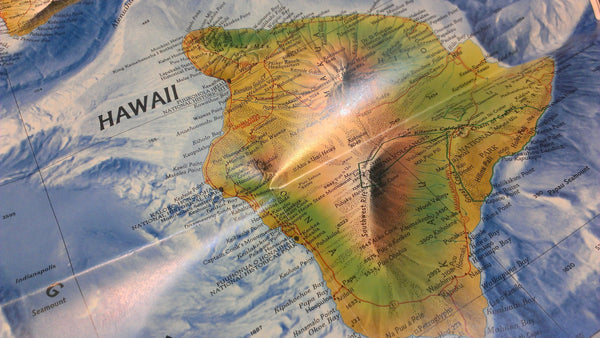 Hawaii, National Geographic, September 1995 Map