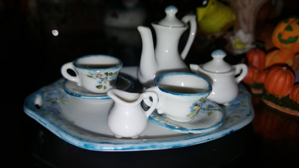 Tiny Iny Tea Set, flowers, FREE SHIPPING