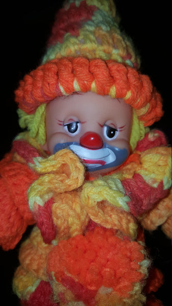 Orange Crochet, Handmade Clown