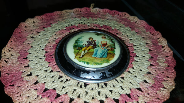 Antique Compact, Powder Mirror