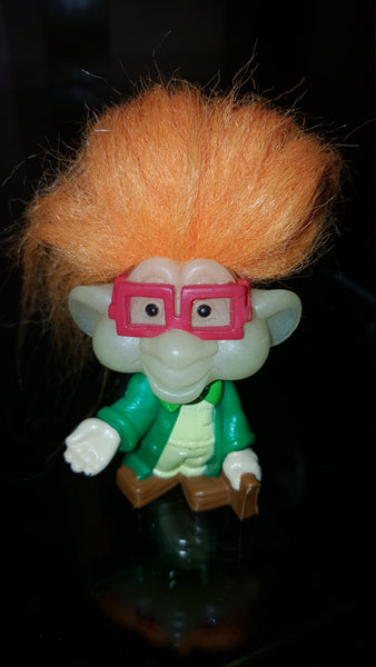 Glow in the Dark Troll doll, geeky glasses, free shipping