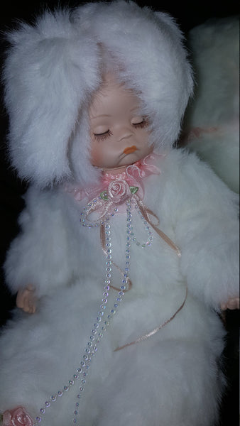 Child dressed as Rabbit, Vintage Doll