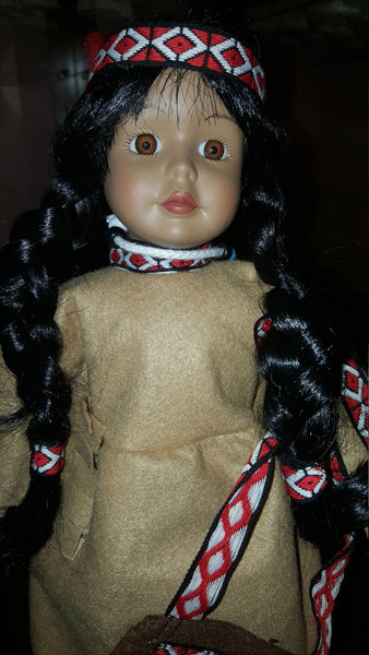 Porcelain Indian Doll, Franklin Mint Heirloom Series
