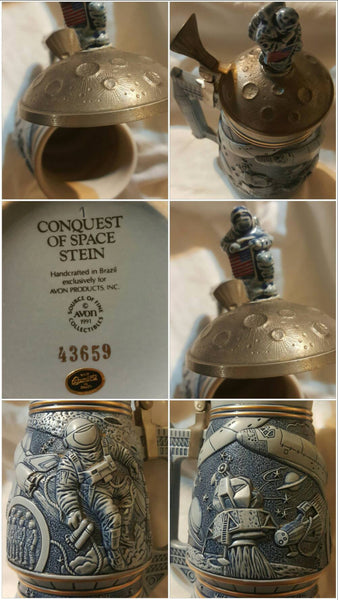 Conquest of Space Stein, Avon Mug, Man on the Moon, Moon Landing, Spaceman, Free Shipping
