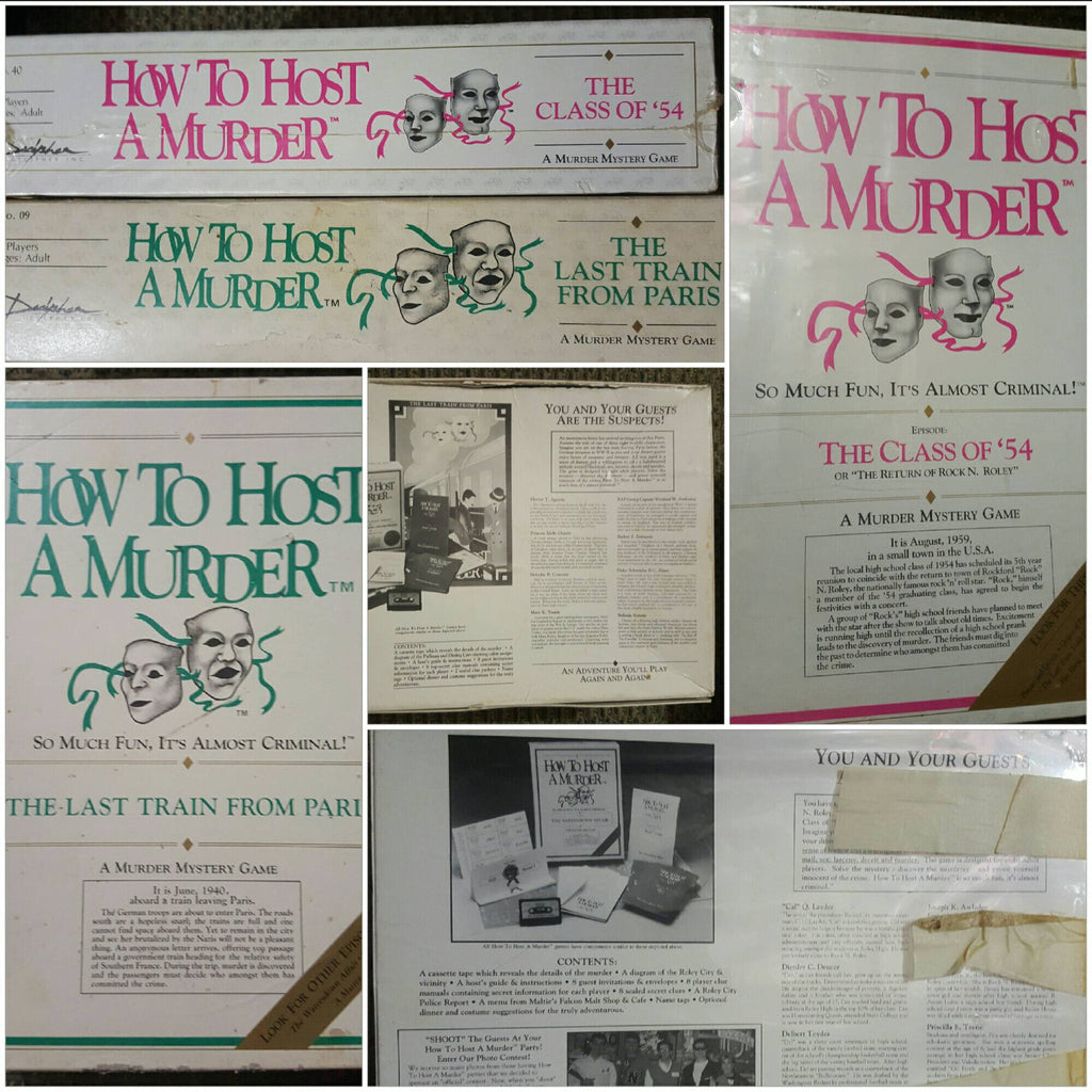 How to Host a Murder, Murder Mystery Puzzle Game, vintage