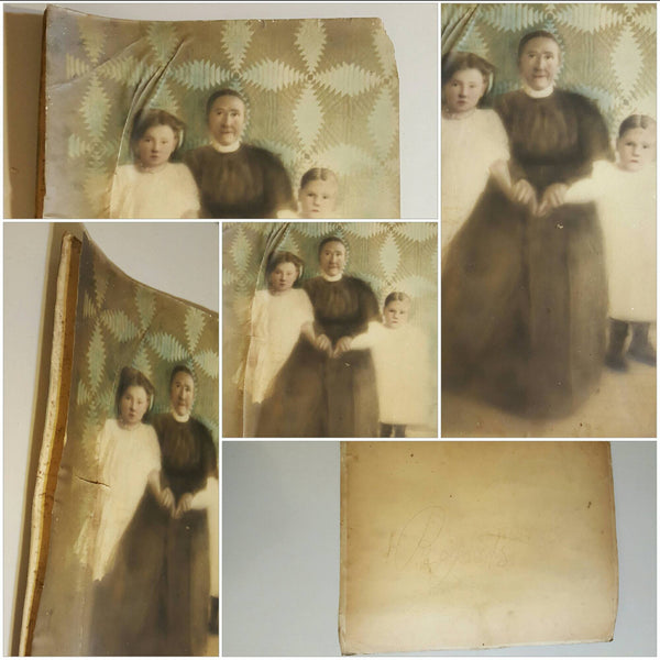 X-Large Family Portrait, early 1900s, photograph, photography, antique pictures, free shipping