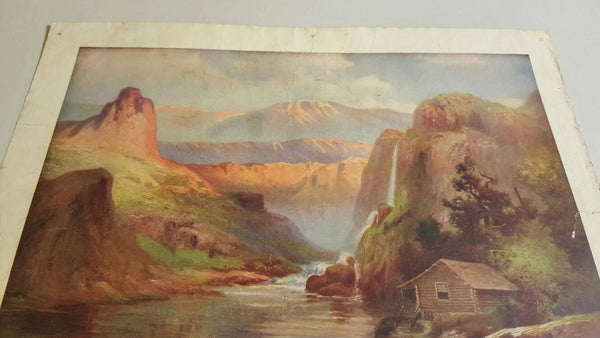 1911 In The Rockies print, large poster