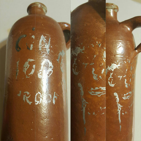 "Brown ""Gin"" Jug, 100 proof, Moonshine days, FREE Shipping"