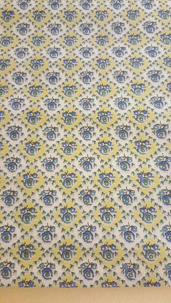 1930's roll of Wall Paper, Blue Floral Print