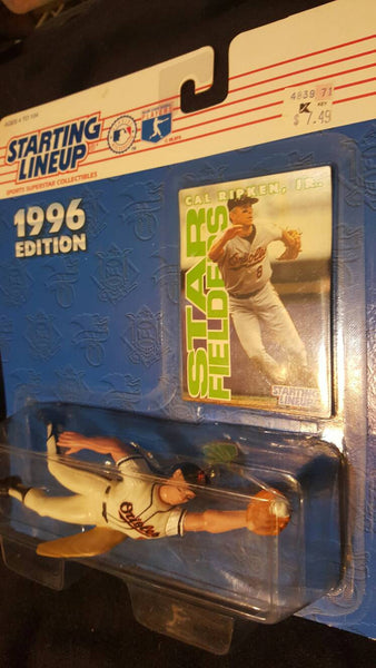 1996 starting Lineup Cal Ripken figure and baseball card
