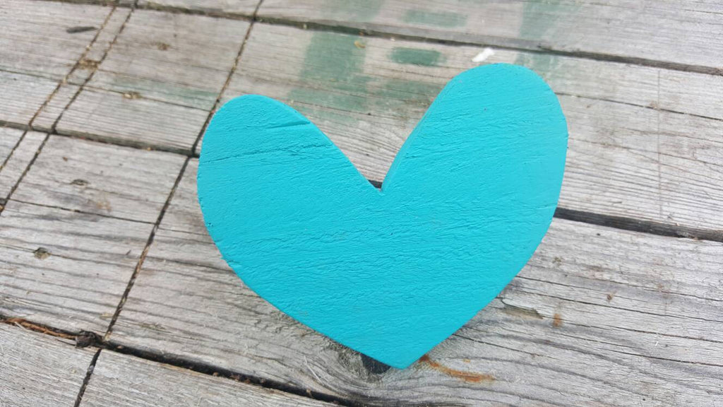 Decorative wooden Heart GEOCACHE, Odd Geocache, Geocaching, Teal Heart, Gifts for Geocachers, FREE Shipping & FREE Geocache
