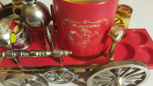Municipal Fire Department, barware, music box, gifts for Firemen, gifts for firehouses, Rescue Vehicles, man cave gifts