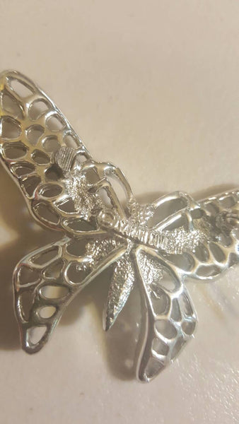 Silver Butterfly Pin Brooch, Sarah Coventry