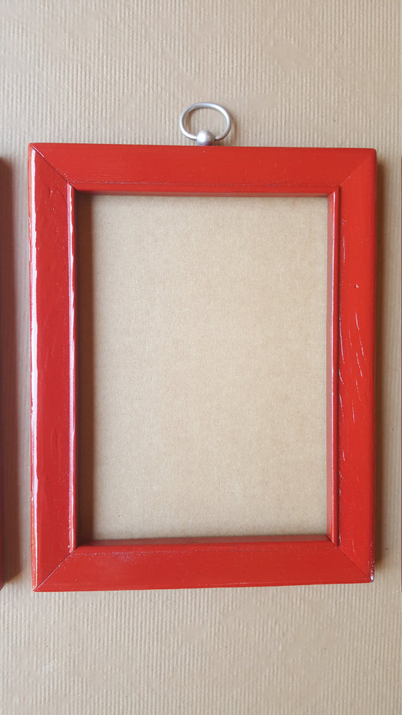 THREE Red Picture Frames, matching