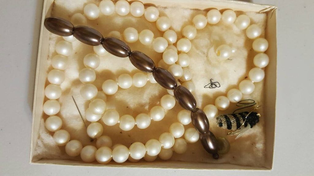 oldschool locking pearls, necklace, bracelet, free shipping