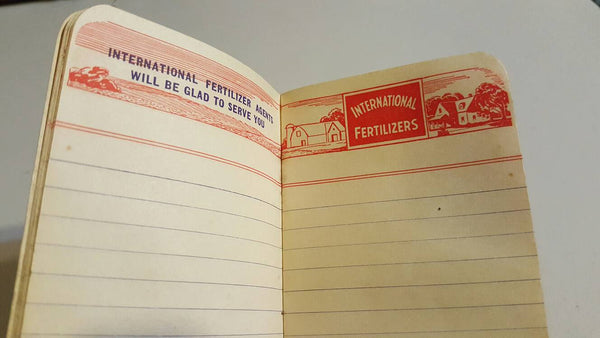 1943 International Fertilizer calender notebook