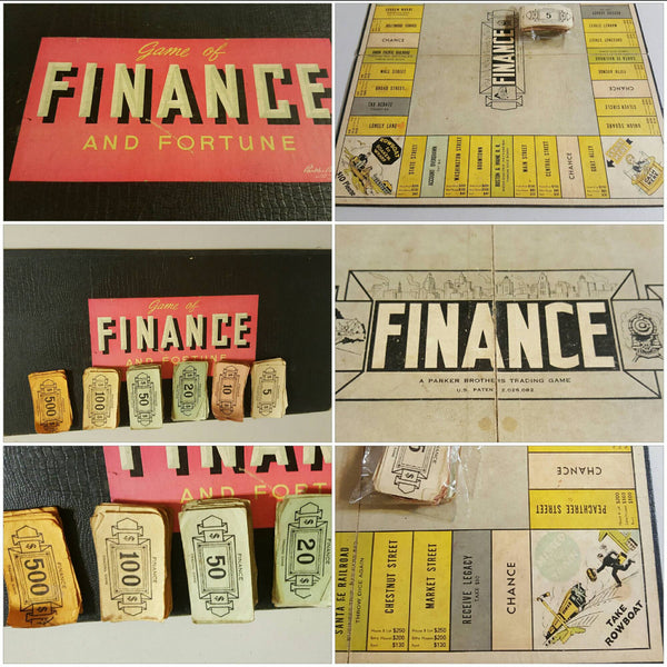 Finance vintage Game Board, original pieces
