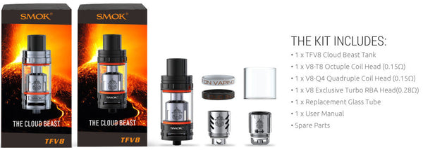 Cloud Beast Full Kit TFV8 Product Specifications and whats included
