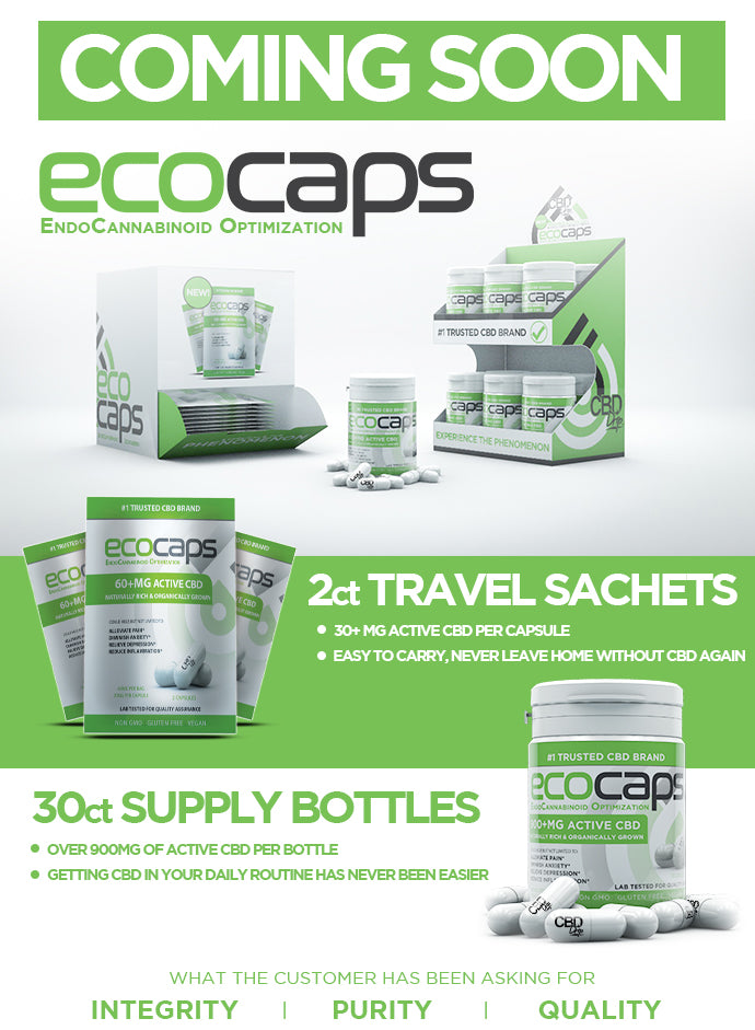 ECO-CAPS from the Makers of CBD Drip are Coming soon to ELiquidUniverse.com at the lowest prices