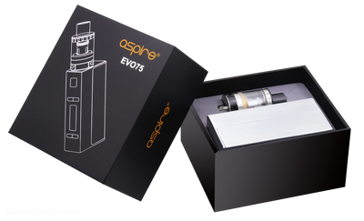 Aspire EVO75 Kit with an Atlantis EVO Tank and the Aspire NX75Z Mod by ELiquid Universe, Inc. Available on ELiquid Universe