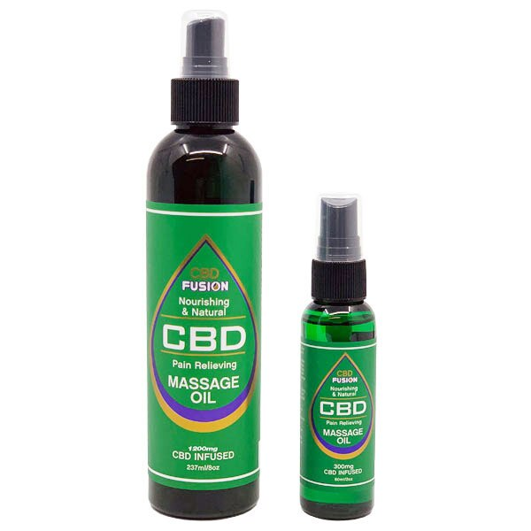 CBD Fusion Massage Oil (300mg – 1200mg)