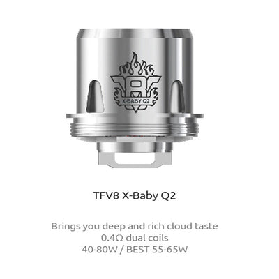 SMOK TFV8-X Baby Tank Replacement Coils (3-Pack) by SmokTech Available on ELiquid Universe