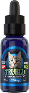 TRU BLU TUNA – CBD CAT TINCTURE 250MG by BlueMoon Hemp Available on ELiquid Universe