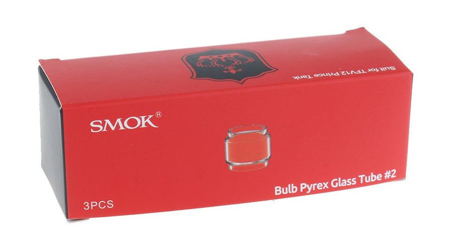 SMOK TFV12 Prince Bulb Pyrex Glass Tube 8ML - Pack of 3 by SmokTech Available on ELiquid Universe