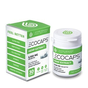 CBD Drip ECO Capsules -  30 Count Bottle - 900+MG ACTIVE CBD