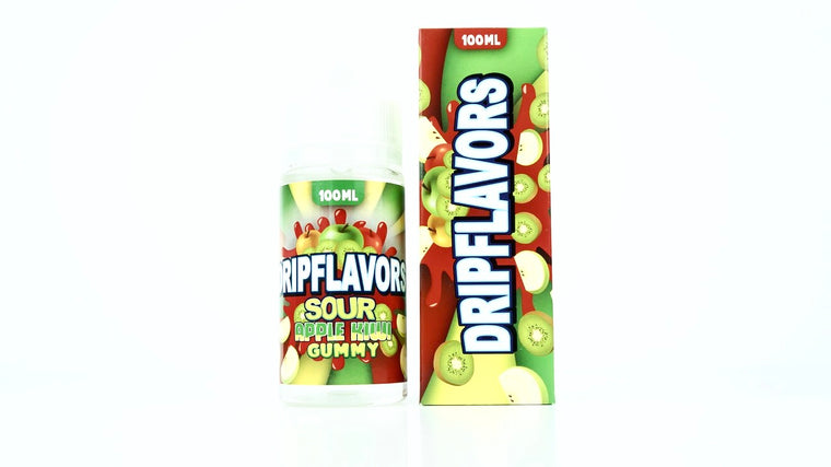 Sour Apple Kiwi Gummy by Dripflavors EJuice on Eliquid Universe