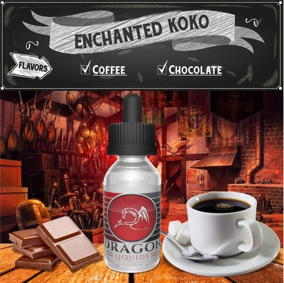 Enchanted KoKo by Dragon Liquids on E Liquid Universe. Premium E Juice Brands & Accessories at Low Prices