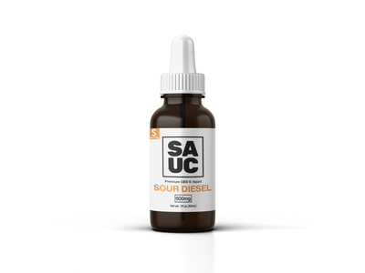 SAUC CBD E-liquid - Sour Diesel by SAUC Available on ELiquid Universe