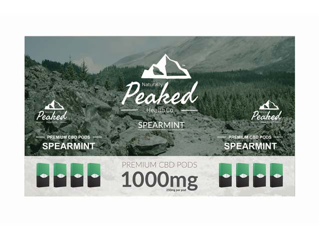 Peaked CBD Vape Pods -1000MG OF USA SOURCED ORGANIC CBD IN A 4 PACK by NaturallyPiqued Available on ELiquid Universe