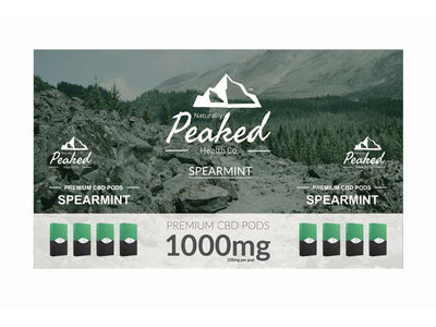 Naturally Peaked CBD Vape Pods -1000MG OF USA SOURCED ORGANIC CBD IN A 4 PACK by Naturally Peaked Health Co. Available on ELiquid Universe