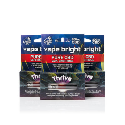 Thrive CBD Vape Cartridge - 3 Pack - 600MG by Vape Bright Available on ELiquid Universe