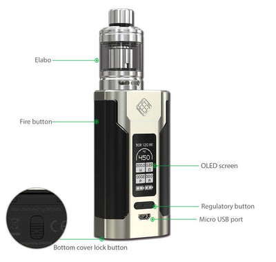 The Wismec Predator 228 Kit by WISMEC Available on ELiquid Universe