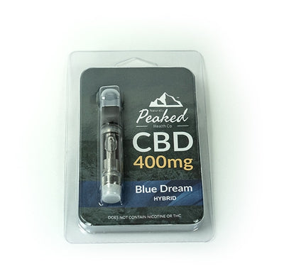 Naturally Peaked 400MG CBD Vape Cartridge | 510 Threaded