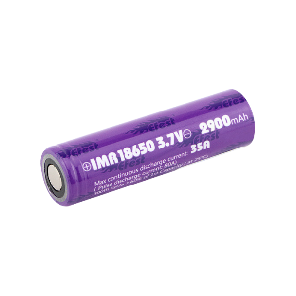 Efest IMR 18650 2900mAh 35A Batteries | Two Pack by Efest on E Liquid Universe. Premium E Juice Brands & Accessories at Low Prices