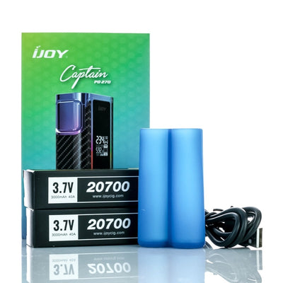 IJOY Captain PD270 Dual 20700 234W TC Box Mod | Two 20700 Batteries Included by iJoy Available on ELiquid Universe