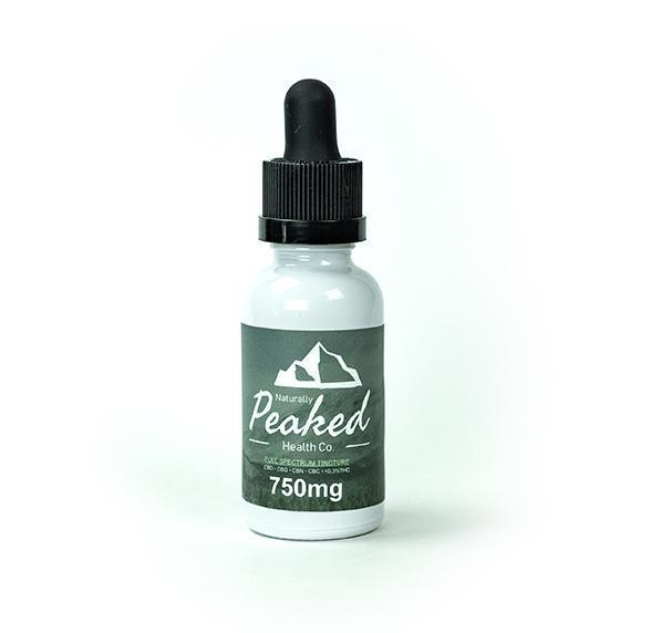 Naturally Peaked Tincture 750mg CBD Full-Spectrum